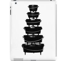 Cast iron dutch oven tower iPad Case/Skin