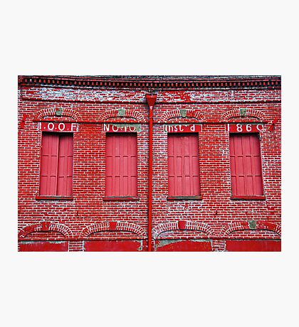 A Grand Old Red Brick Building Photographic Print