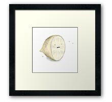 Angry Lemon Framed Print