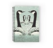 Synchronized Swimming Geese  Spiral Notebook