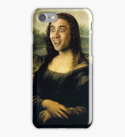 Nicholas Cage Mona Lisa iPhone Case/Skin