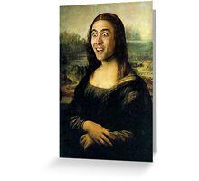Nicholas Cage Mona Lisa Greeting Card