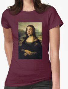 Nicholas Cage Mona Lisa Womens Fitted T-Shirt