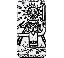 Wind Waker Block Print black iPhone Case/Skin