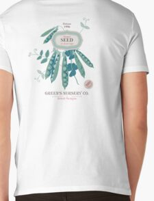 Veg Love Collection No.6 Bean Mens V-Neck T-Shirt