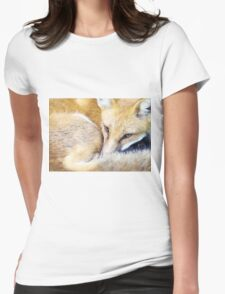 Resting Red Fox Womens Fitted T-Shirt
