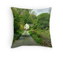 The Cottage At The End Of The Lane.... Throw Pillow