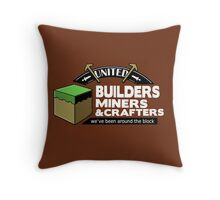 Been Around the Block - Minecraft Shirt Throw Pillow