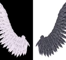 White and Black Wing Sticker