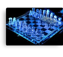 Glass Chess Board Canvas Print