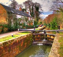 Woodham Lock - Basingstoke Canal - HDR by Colin J Williams Photography