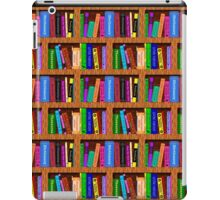 Library Bookshelf Background Pattern for Readers iPad Case/Skin