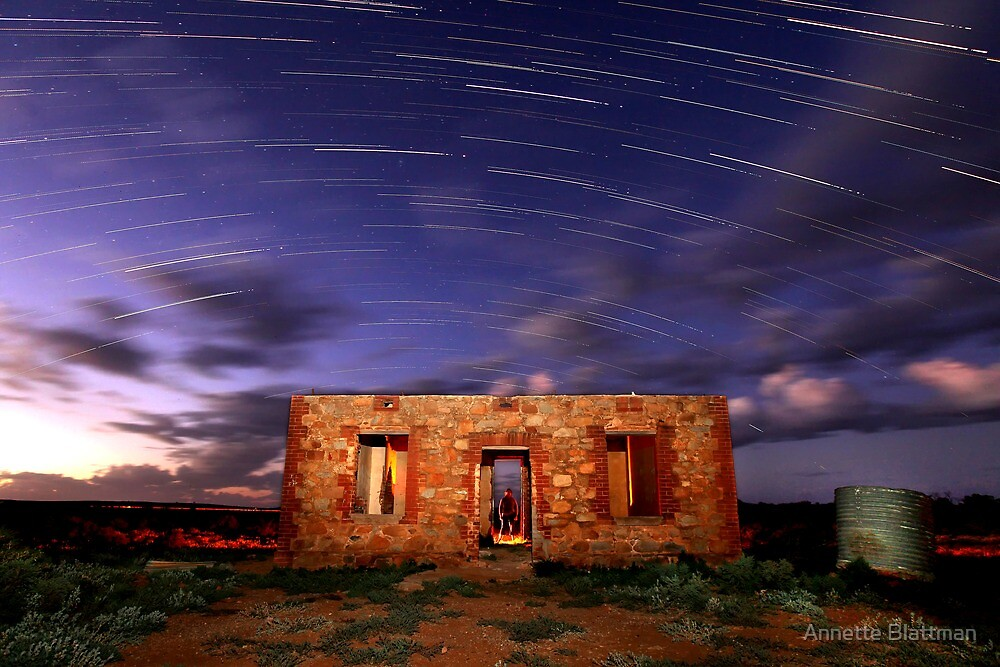 Star Trail Ruins by Annette Blattman