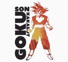 Son Goku Art Decal One Piece - Short Sleeve