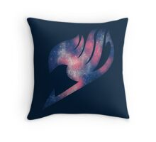 Fairy Tail galaxy logo Throw Pillow