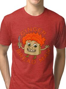 Funny Ginger Bread Man Christmas Pun Tri-blend T-Shirt