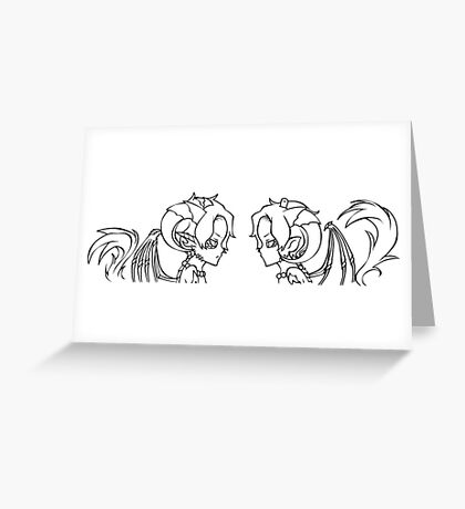 Ace and Ace AU: Black Greeting Card