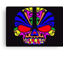 Skull in color Canvas Print