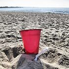 At The Beach.....Red Pail by SharonAHenson