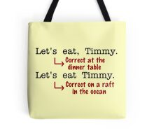 Funny Punctuation Grammar Humor Tote Bag