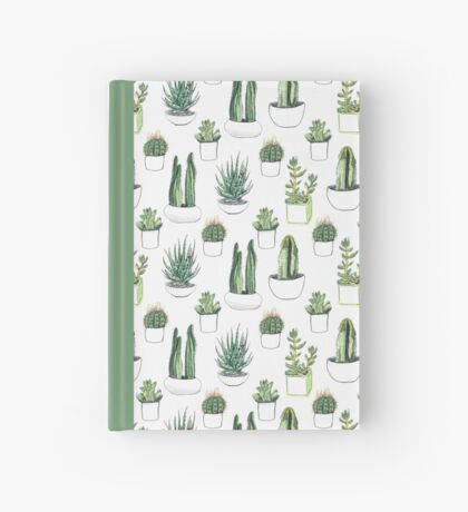 watercolour cacti and succulents Hardcover Journal