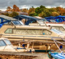 At the Marina HDR Sticker