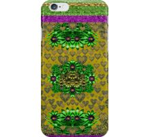 Floral and gold hearts iPhone Case/Skin