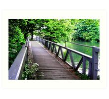 The Thames Footpath at Staines. Art Print