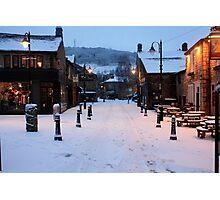 Hebden Bridge in snow Photographic Print