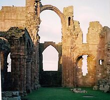 Lindisfarne Priory by Ian Lyall