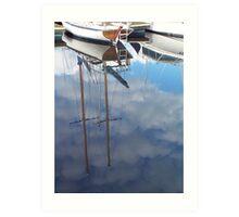 Clouded Masts Art Print
