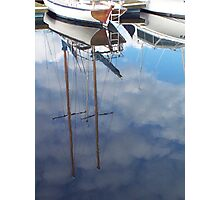 Clouded Masts Photographic Print