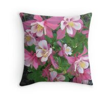 Cluster of Columbines Throw Pillow