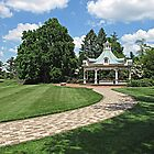Victorian Gazebo in Spring by Monnie Ryan