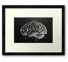 Brain Engraving Framed Print