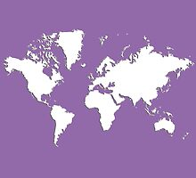 World Splatter Map - wpurple by Mark McKinney