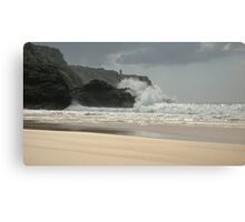 Pen Hat Beach Canvas Print