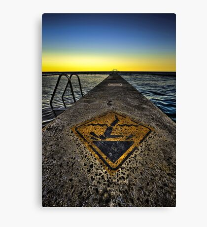 Warning - Dont Headbut the Rox! HDR Canvas Print