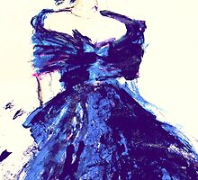 blue silk dress by RosWebb