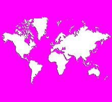 World Splatter Map - wmagenta by Mark McKinney