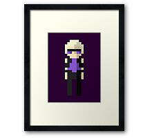 Hawkeye Pixel Art Framed Print