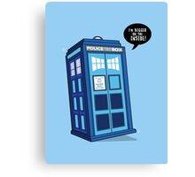 Bigger on the Inside - Doctor Who Shirt Canvas Print