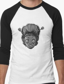 Geisha Girl (Black&White) Men's Baseball ¾ T-Shirt