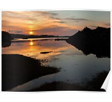 Sunset over loch Dunvegan Poster
