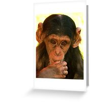 Young Chimp Greeting Card