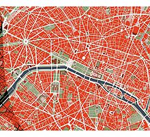 Paris city map classic by PlanosUrbanos