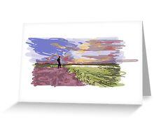 Impression Landscape Greeting Card
