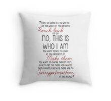 Once Upon a Time - Emma Swan Quote Red Throw Pillow
