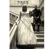 BRIDE & GROOM Photographic Print