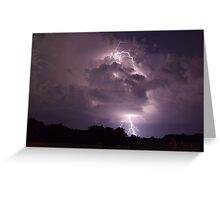 Lightning strike Greeting Card